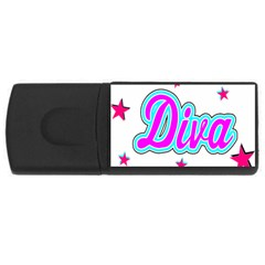 Pink Diva 2GB USB Flash Drive (Rectangle)