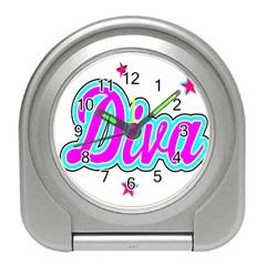 Pink Diva Desk Alarm Clock