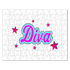 Pink Diva Jigsaw Puzzle (Rectangle)