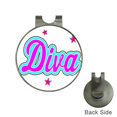 Pink Diva Hat Clip with Golf Ball Marker