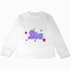 Pink Diva Kids Long Sleeve T-Shirt