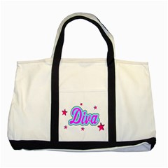 Pink Diva Two Toned Tote Bag