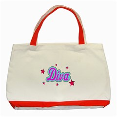 Pink Diva Classic Tote Bag (Red)