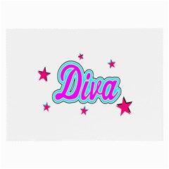 Pink Diva Glasses Cloth (Large, Two Sided)