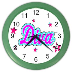 Pink Diva Wall Clock (Color)