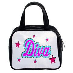 Pink Diva Classic Handbag (two Sides)
