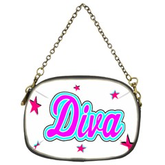 Pink Diva Chain Purse (Two Sided)