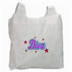 Pink Diva Recycle Bag (One Side)