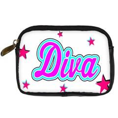 Pink Diva Digital Camera Leather Case