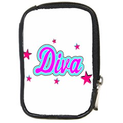 Pink Diva Compact Camera Leather Case