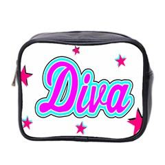 Pink Diva Mini Travel Toiletry Bag (Two Sides)