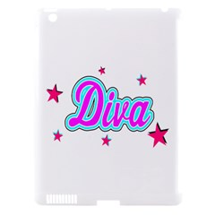 Pink Diva Apple Ipad 3/4 Hardshell Case (compatible With Smart Cover)