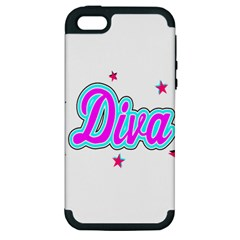 Pink Diva Apple Iphone 5 Hardshell Case (pc+silicone)
