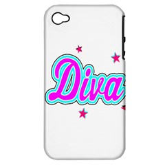 Pink Diva Apple iPhone 4/4S Hardshell Case (PC+Silicone)