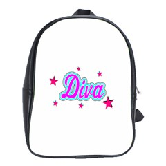 Pink Diva School Bag (XL)