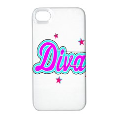 Pink Diva Apple iPhone 4/4S Hardshell Case with Stand