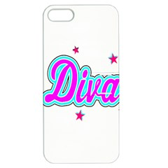 Pink Diva Apple Iphone 5 Hardshell Case With Stand