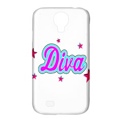 Pink Diva Samsung Galaxy S4 Classic Hardshell Case (pc+silicone)