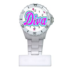Pink Diva Nurses Watch