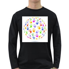 Together help find a cure Men s Long Sleeve T-shirt (Dark Colored)