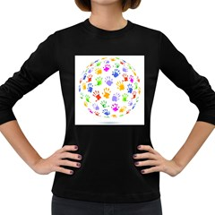 Together help find a cure Women s Long Sleeve T-shirt (Dark Colored)