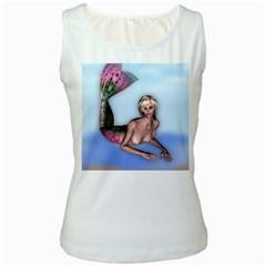 Mermaid On The Beach Women s Tank Top (white)
