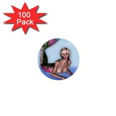 Mermaid on the beach 1  Mini Button (100 pack)