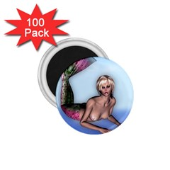 Mermaid on the beach 1.75  Button Magnet (100 pack)