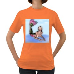 Mermaid on the beach Women s T-shirt (Colored)