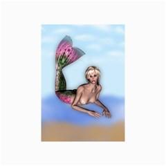 Mermaid on the beach Canvas 16  x 20  (Unframed)