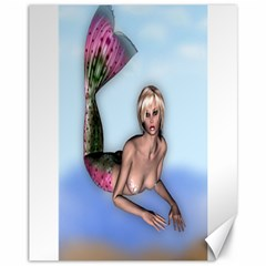 Mermaid on the beach Canvas 11  x 14  (Unframed)