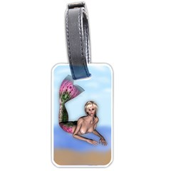 Mermaid on the beach Luggage Tag (Two Sides)