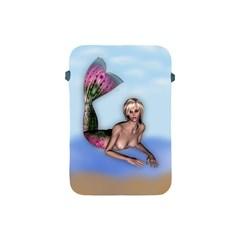 Mermaid on the beach Apple iPad Mini Protective Sleeve