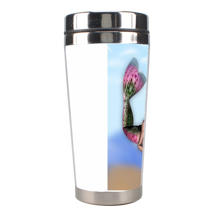 Mermaid on the beach Stainless Steel Travel Tumbler