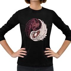 Yin Yang Women s Long Sleeve T-shirt (Dark Colored)