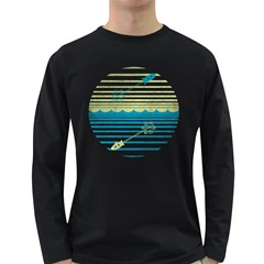 Blast Off Or Dive Deep Men s Long Sleeve T-shirt (Dark Colored)