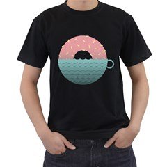 Coffee & Donut Sunrise Men s T Shirt (black)