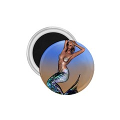 Sexy Mermaid On Beach 1.75  Button Magnet
