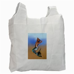 Sexy Mermaid On Beach Recycle Bag (one Side)