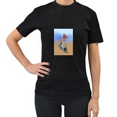 Sexy Mermaid On Beach Women s T Shirt (black)