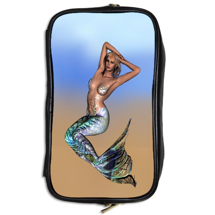 Sexy Mermaid On Beach Travel Toiletry Bag (Two Sides)