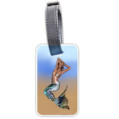 Sexy Mermaid On Beach Luggage Tag (Two Sides)