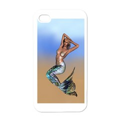 Sexy Mermaid On Beach Apple iPhone 4 Case (White)