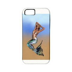 Sexy Mermaid On Beach Apple Iphone 5 Classic Hardshell Case (pc+silicone)