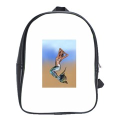 Sexy Mermaid On Beach School Bag (xl)