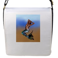 Sexy Mermaid On Beach Removable Flap Cover (Small)