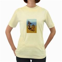 Mermaid On The Beach  Women s T-shirt (Yellow)
