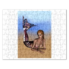 Mermaid On The Beach  Jigsaw Puzzle (Rectangle)