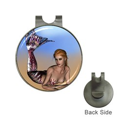Mermaid On The Beach  Hat Clip with Golf Ball Marker