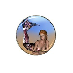 Mermaid On The Beach  Golf Ball Marker 10 Pack (for Hat Clip)
